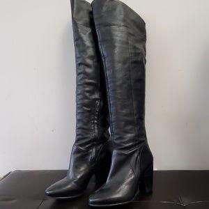 Arricci Brazilian leather over the knee boot